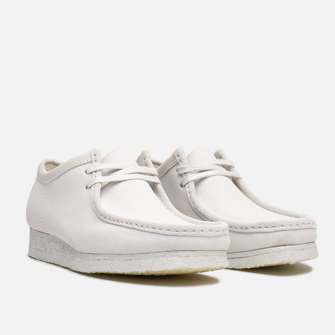 WALLABEE - WHITE SUEDE