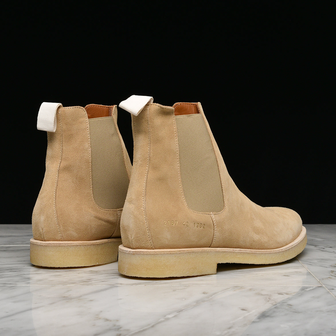 SUEDE CHELSEA BOOT - TAN