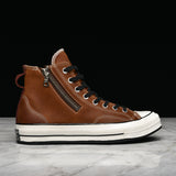 "CHUCK 70 HI ""RIRI ZIP"" - APRICOT LEATHER"