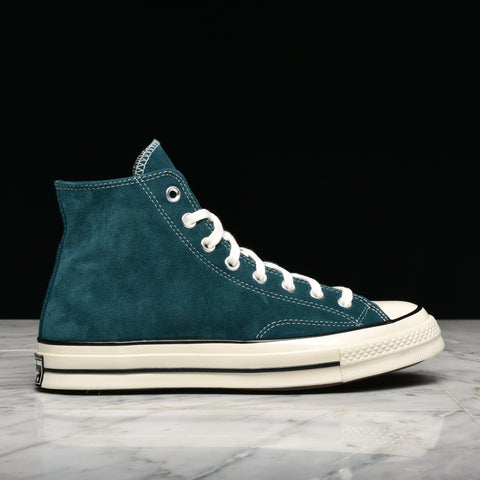 CHUCK 70 HI SUEDE - MIDNIGHT TURQUOISE