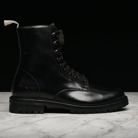 COMBAT BOOT W/ LUG SOLE - BLACK