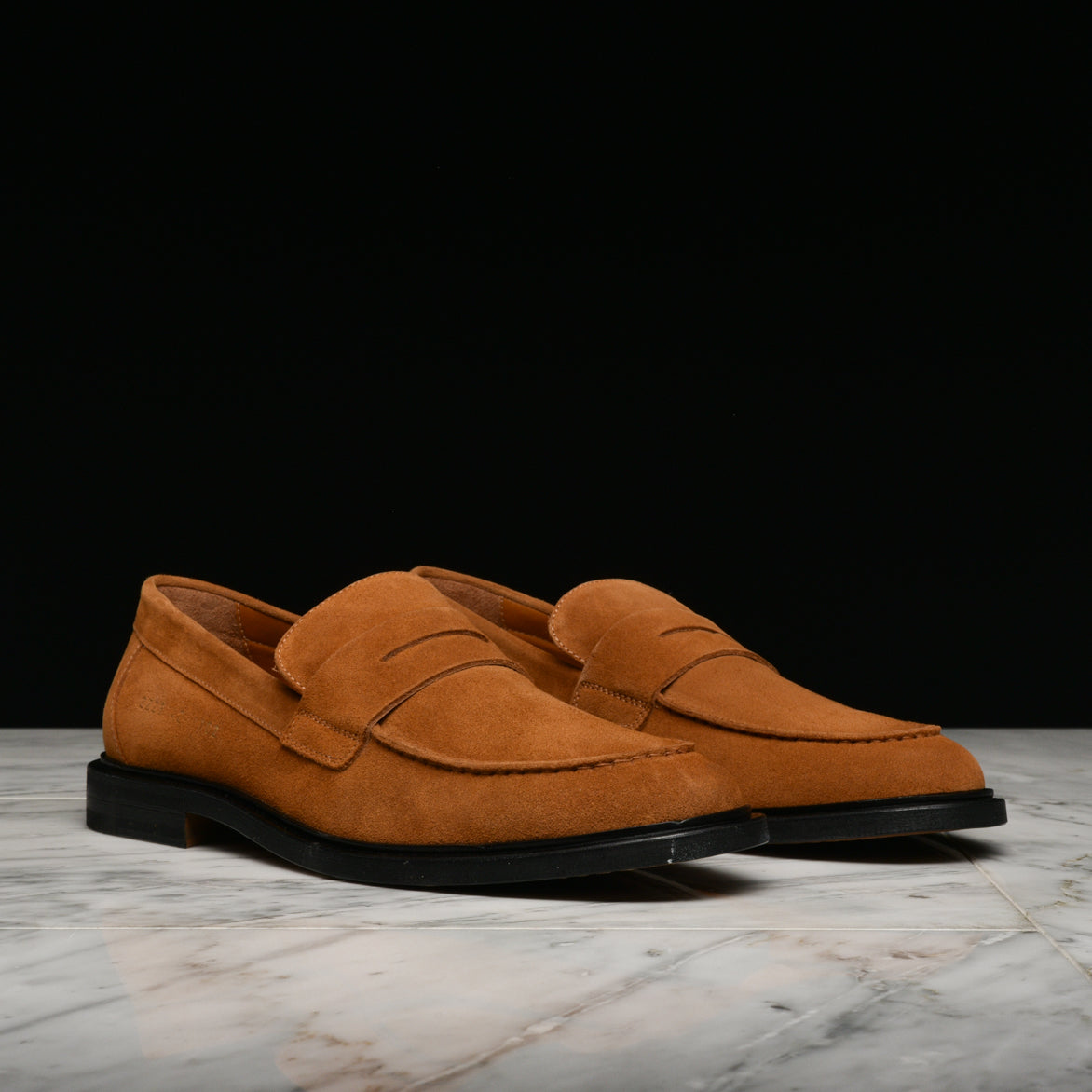 SUEDE LOAFER - TAN