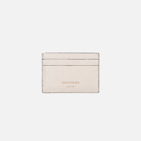 CRACKED LEATHER MULTI CARD HOLDER - WHITE