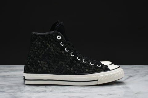 CHUCK TAYLOR ALL STAR `70 WOVEN SUEDE HI - BLACK