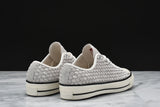 CHUCK TAYLOR ALL STAR `70 WOVEN SUEDE OX - WHITE / BLACK