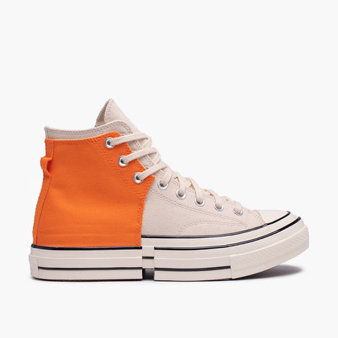 "FENG CHEN WANG X CONVERSE CHUCK 70 HI ""2-IN-1"" - ORANGE PERSIMMON / NATURAL IVORY"