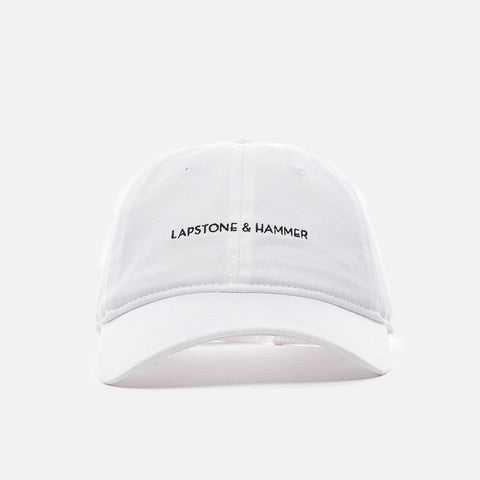 LAPSTONE SIGNATURE 6 PANEL CAP - WHITE