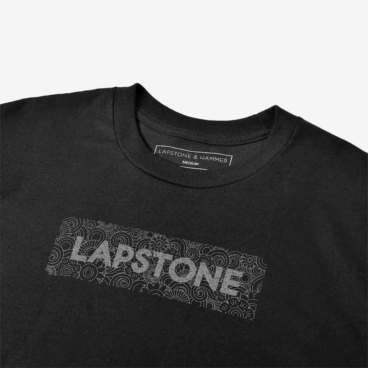 LAPSTONE DECO BOX TEE - BLACK REFLECTIVE