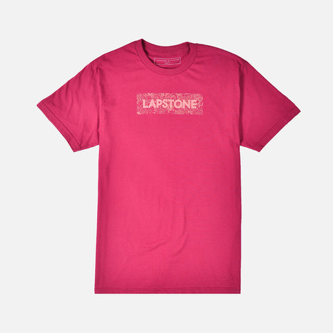 LAPSTONE DECO BOX TEE - BERRY