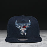 "LAPSTONE & HAMMER x MITCHELL & NESS ""DESTRUCTED DENIM"" - BULLS LOGO (RESTOCK)"