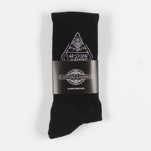 LAPSTONE DIAMOND SOCK - BLACK