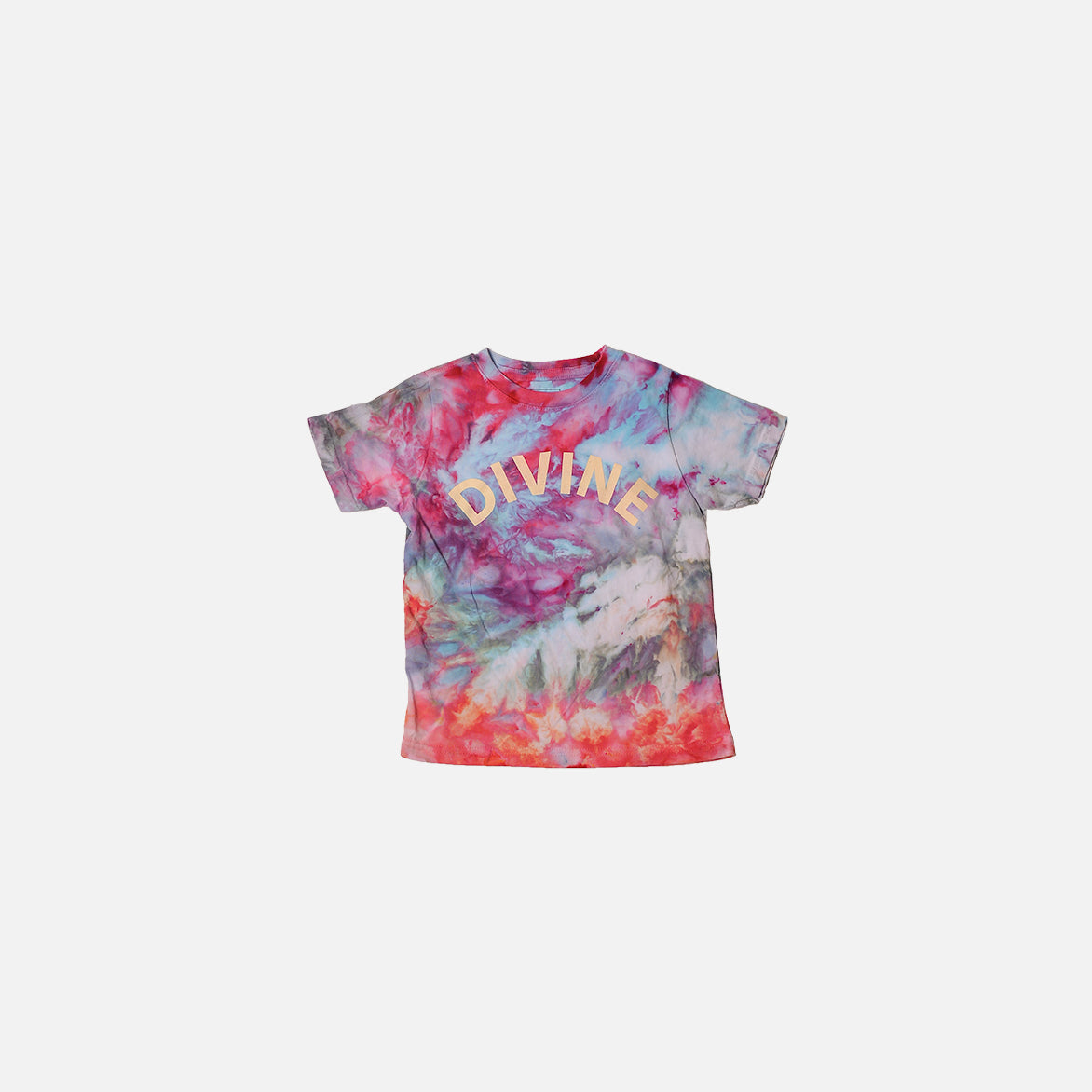 "DIVINE HAND-DYED TODDLER TEE ""PINK GALAXY"""