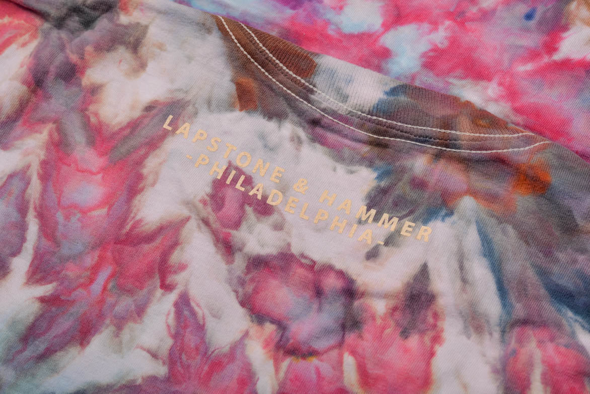 "DIVINE HAND-DYED MEN'S TEE ""PINK GALAXY"""