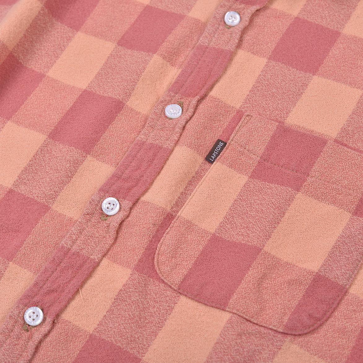 VINTAGE WASH BUFFALO CHECK FLANNEL - RUST