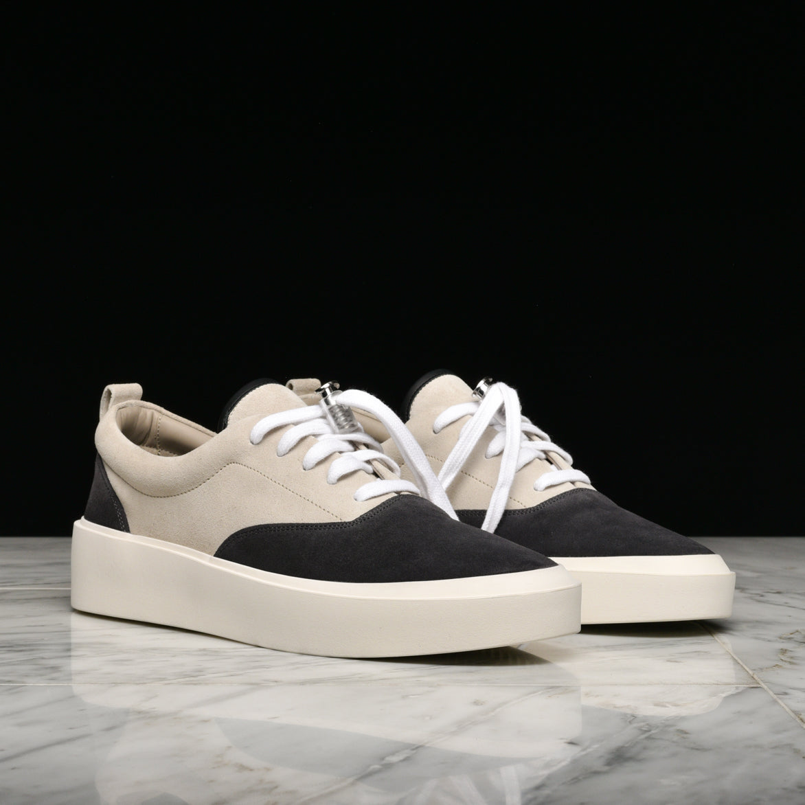 101 LACE UP SNEAKERS - BLACK / CREAM