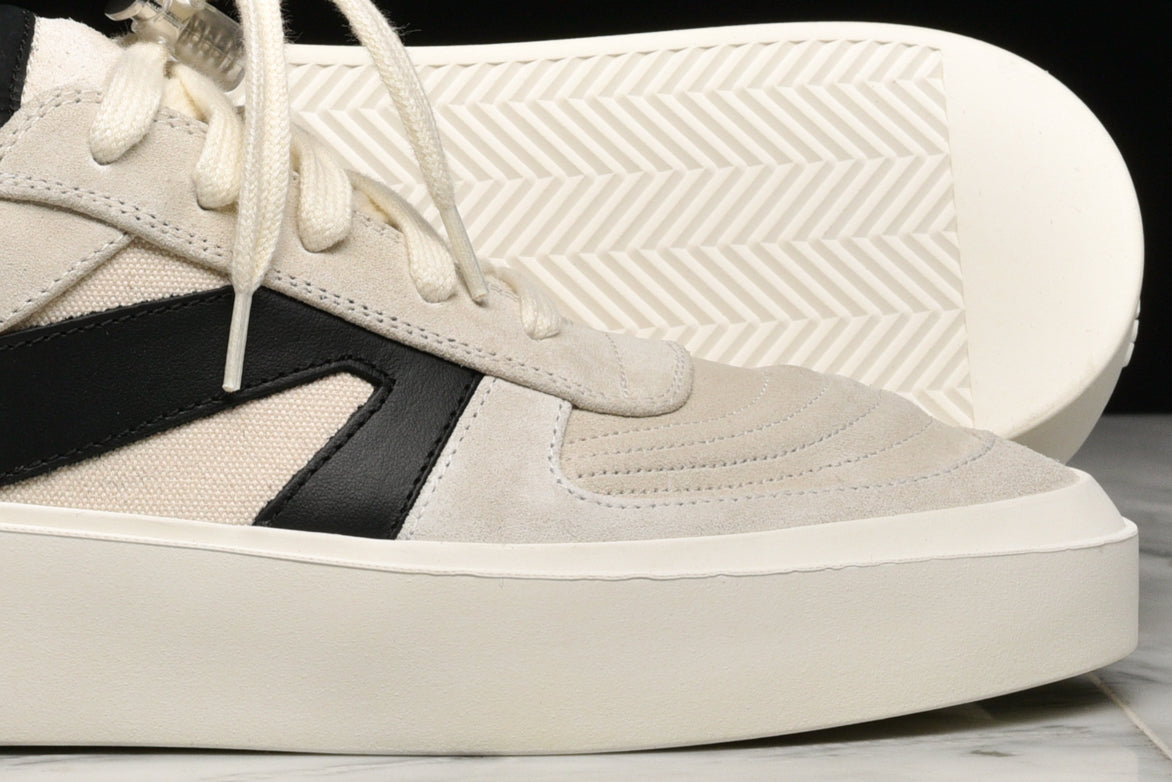 SKATE LOW - BONE / BLACK