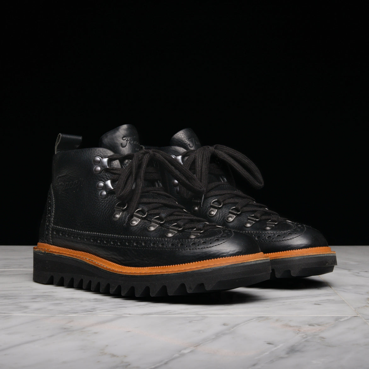 FRACAP FOR LAPSTONE & HAMMER M130 FUR-LINED BROGUE BOOT - BLACK