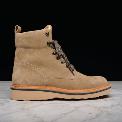 FRACAP FOR LAPSTONE & HAMMER Z525 SUEDE STIVALETTO ALTO ALBANY SOLE - GREY