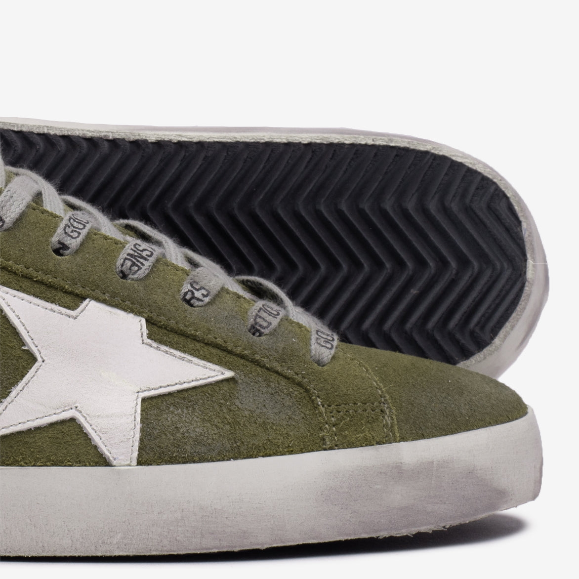 SUPERSTAR CLASSIC SUEDE - WOOD GREEN / WHITE / BLUE