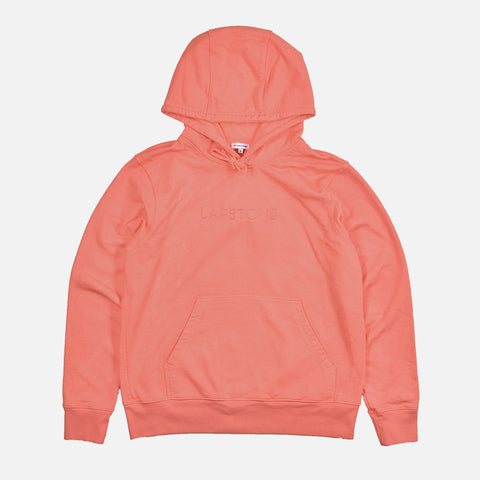 FRENCH TERRY HOODIE - CORAL