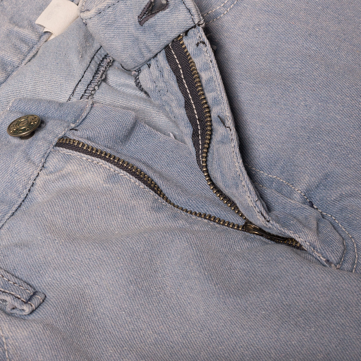 L&H x G+R CROPPED DENIM - STONEWASHED