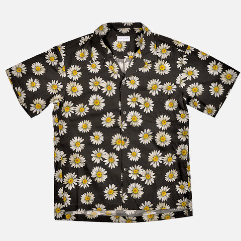 BOWLING SHIRT - BLACK / DAISY