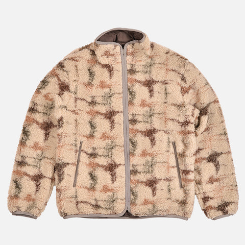REVERSIBLE POLAR FLEECE FULL ZIP JACKET - DIGITAL CAMO SAGE