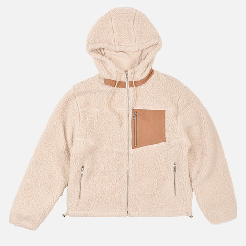 BOULDER POLAR FLEECE FULL ZIP - IVORY