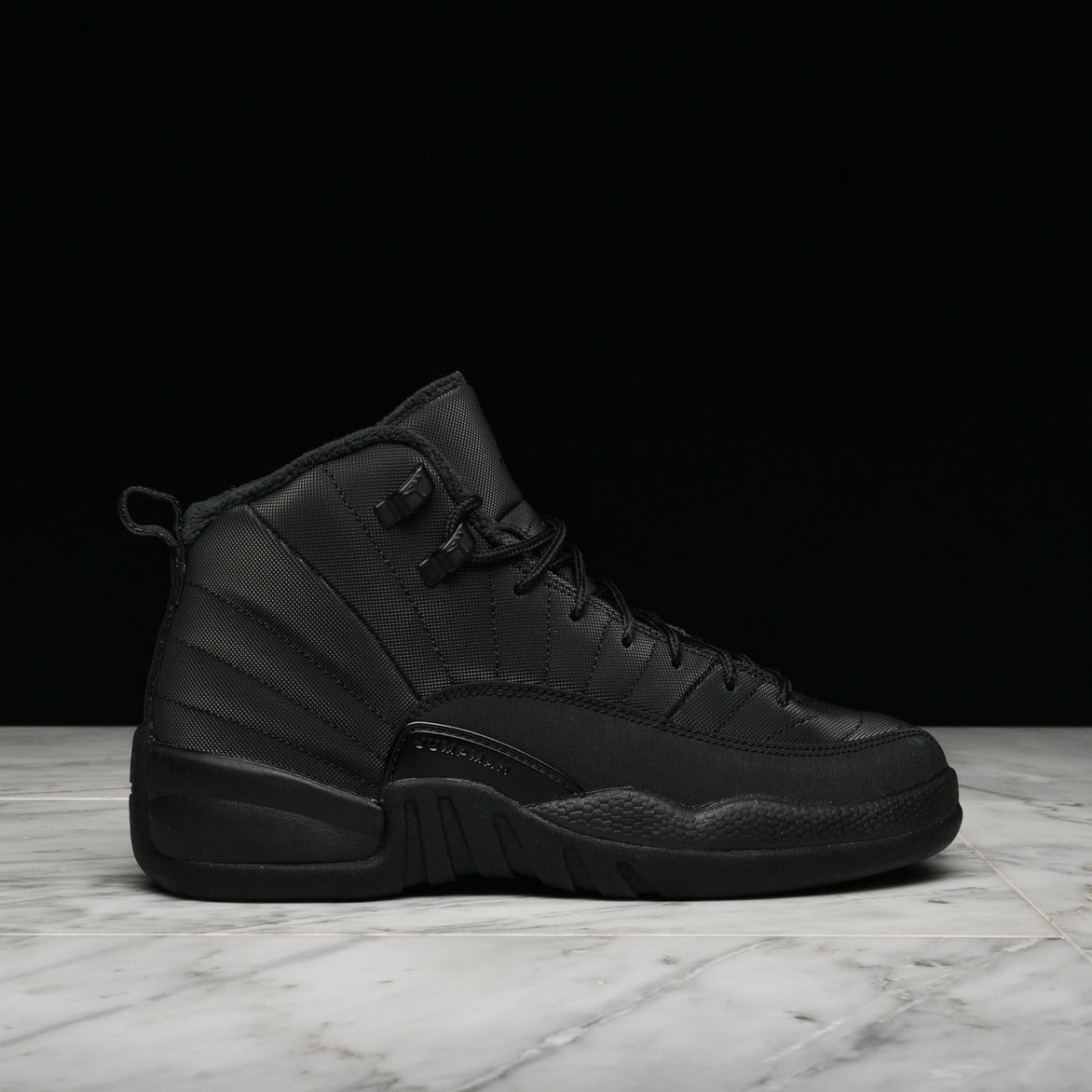 new products 715b3 08d36 ... sale air jordan 12 retro winterized gs triple black. jordan ea15e f4684