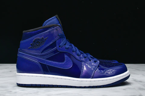 "AIR JORDAN 1 RETRO HIGH ""DEEP ROYAL PATENT LEATHER"""