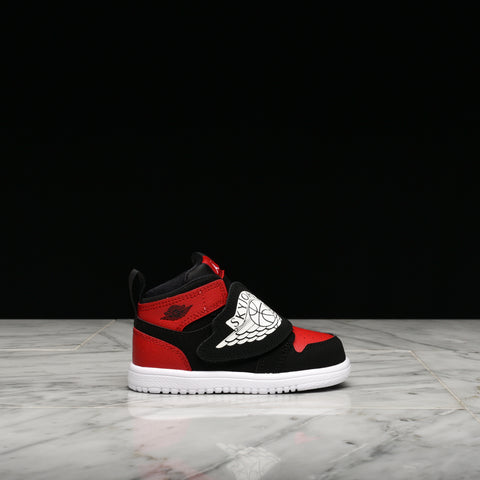 SKY JORDAN 1 (TD) - BLACK / WHITE / GYM RED