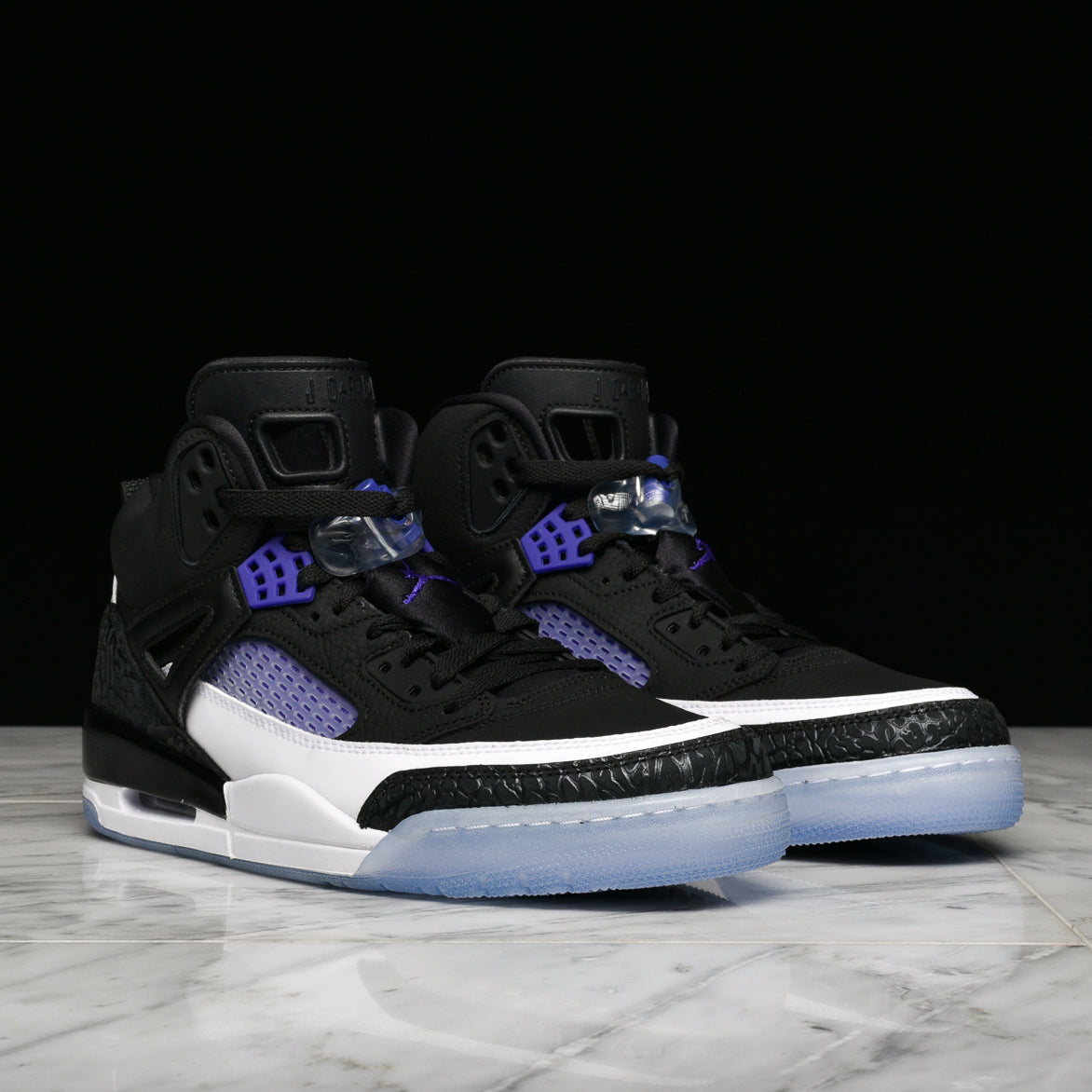 JORDAN SPIZIKE - BLACK / DARK PURPLE / WHITE