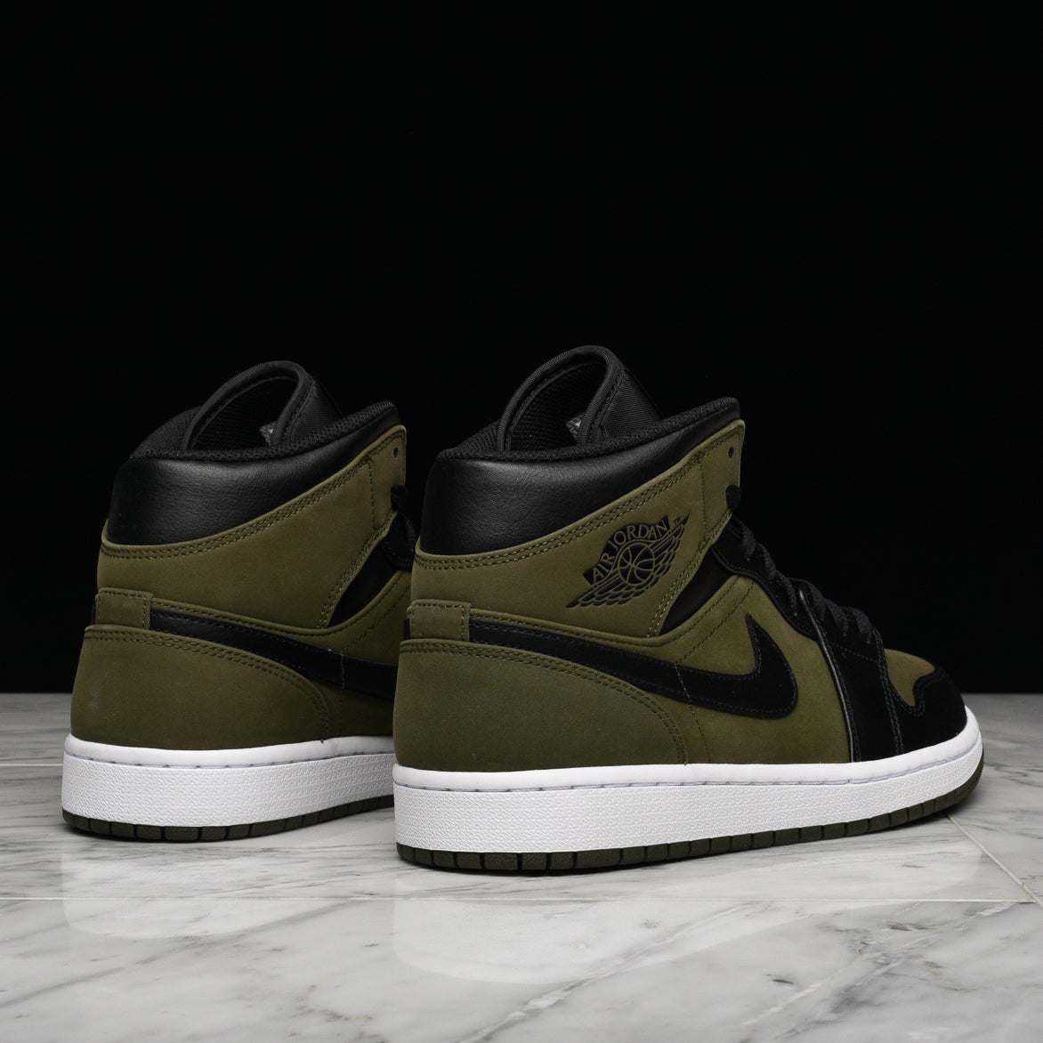 AIR JORDAN 1 MID - OLIVE CANVAS   BLACK. JORDAN 1f094dc6a