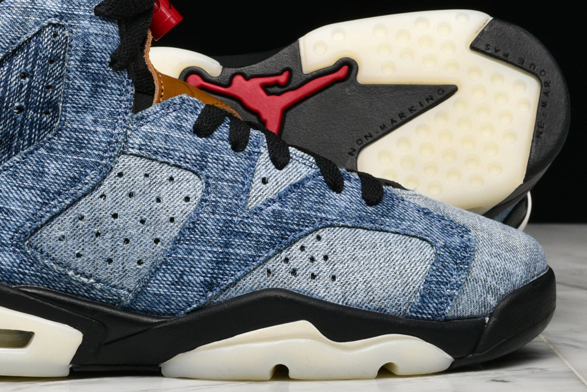"AIR JORDAN 6 RETRO (GS) ""WASHED DENIM"""