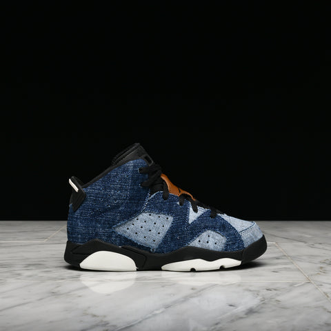 "AIR JORDAN 6 RETRO (PS) ""WASHED DENIM"""