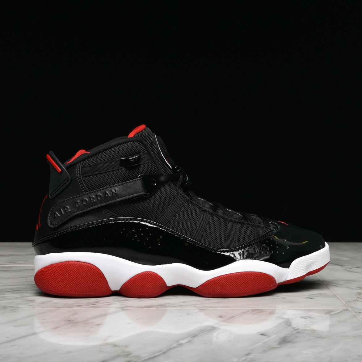 e83e06144cdb JORDAN 6 RINGS - BLACK   VARSITY RED