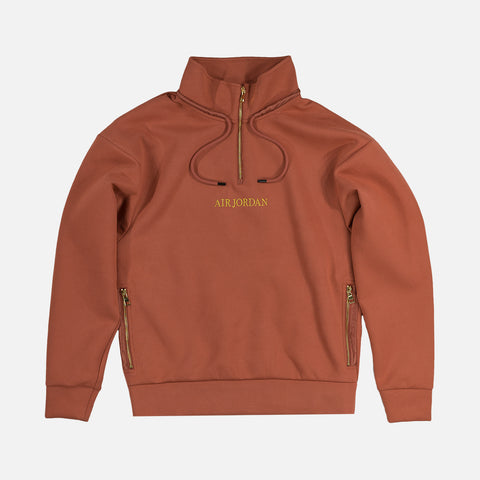 MJ REMASTERED 1/4 ZIP PULLOVER - DUSTY PEACH / METALLIC GOLD