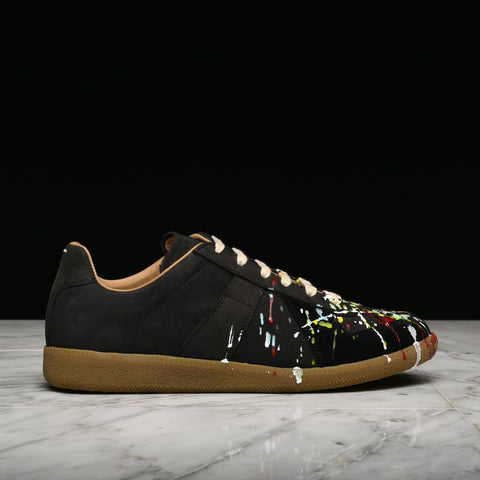 REPLICA PAINT DROP SNEAKER - BLACK