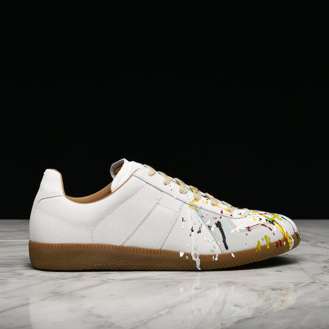 REPLICA PAINT SPLATTER SNEAKER - WHITE / MULTI