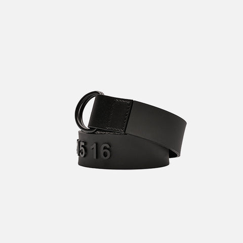 11 LOGO RUBBER BELT - BLACK
