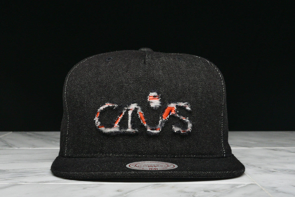 "LAPSTONE & HAMMER x MITCHELL & NESS ""BLACK DESTRUCTED DENIM"" - CAVS-1"
