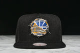 "LAPSTONE & HAMMER x MITCHELL & NESS ""BLACK DESTRUCTED DENIM"" - WARRIORS"