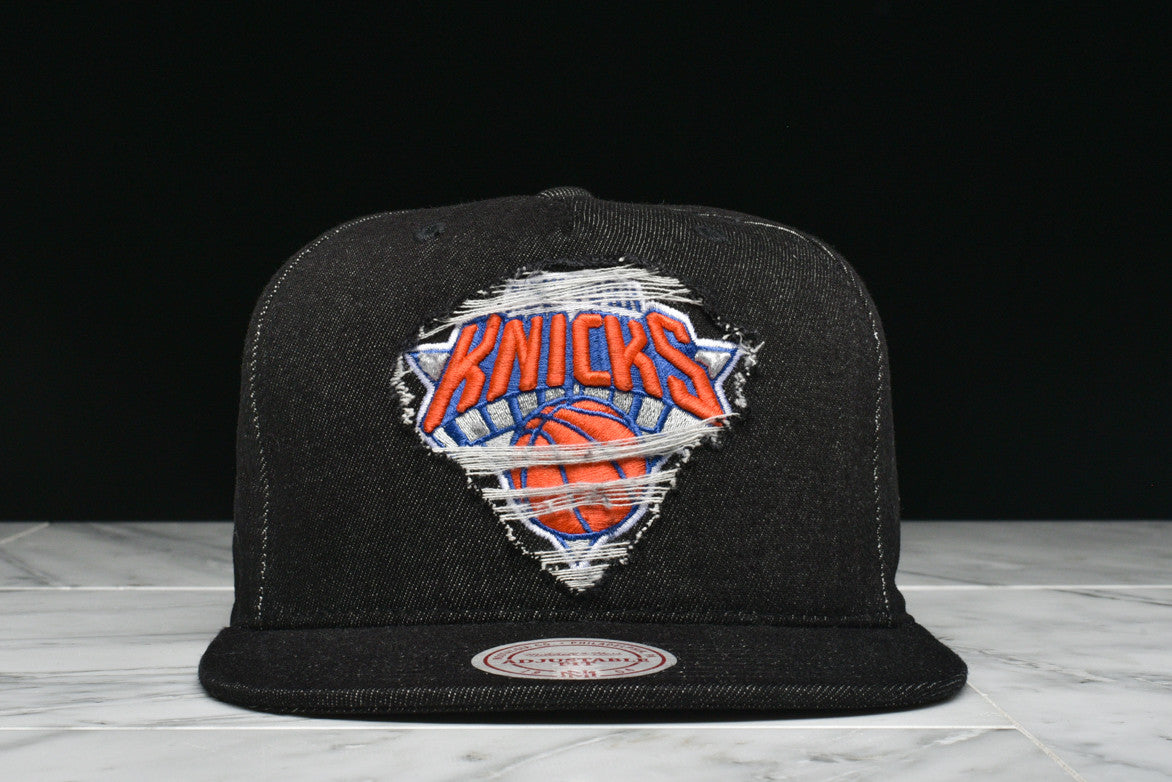 "LAPSTONE & HAMMER x MITCHELL & NESS ""BLACK DESTRUCTED DENIM"" - KNICKS"