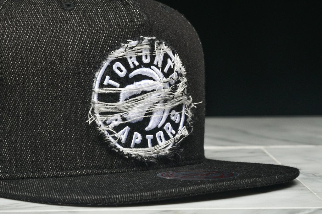 "LAPSTONE & HAMMER x MITCHELL & NESS ""BLACK DESTRUCTED DENIM"" - RAPTORS"