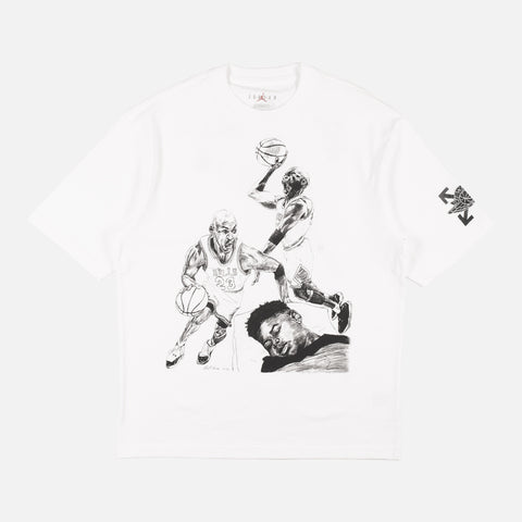 "OFF WHITE X AIR JORDAN TEE ""SAIL"""
