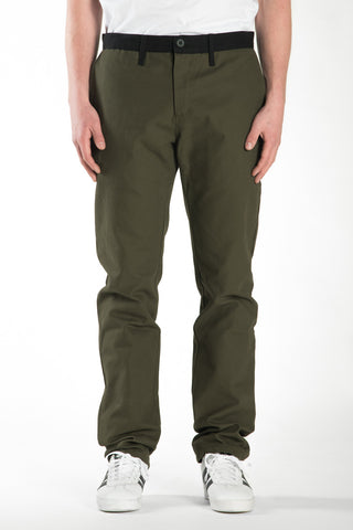 BARRINGTON SLIM PANT - OLIVE / BLACK