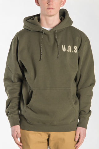 """UNS"" HOODY - OLIVE"