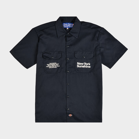 NEW YORK SUNSHINE X 76ERS DICKIES INSTALL TEAM S/S WORK SHIRT - DARK NAVY