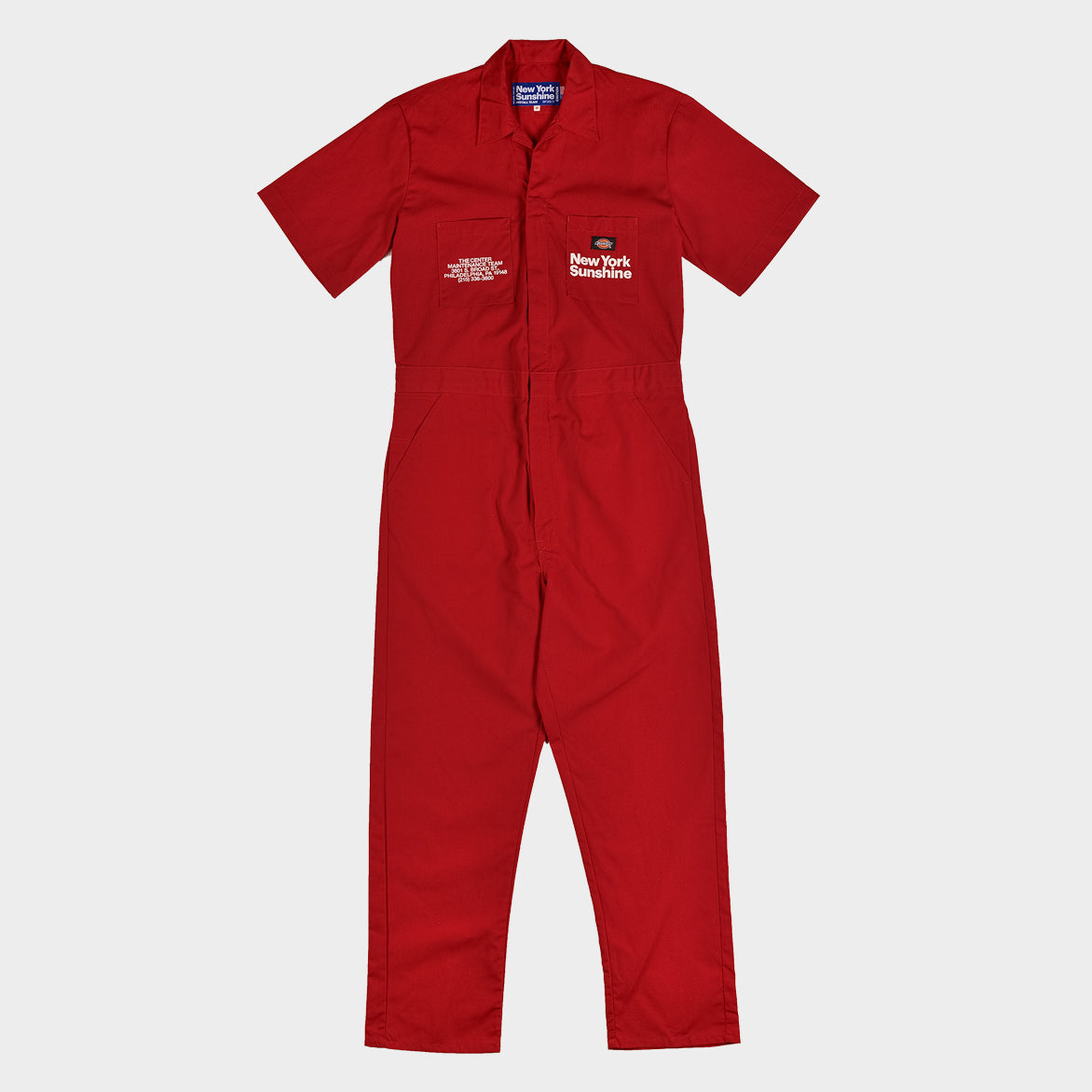 NEW YORK SUNSHINE X 76ERS DICKIES INSTALL TEAM S/S COVERALLS - RED