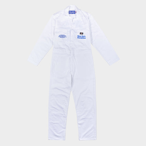 NEW YORK SUNSHINE X 76ERS DICKIES INSTALL TEAM S/S COVERALLS - WHITE